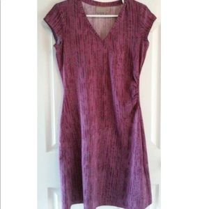 Athleta faux wrap fit and flare dress - Size Large